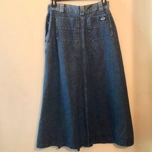 Dockers Skirts - Dockers Full Denim Maxi Skirt
